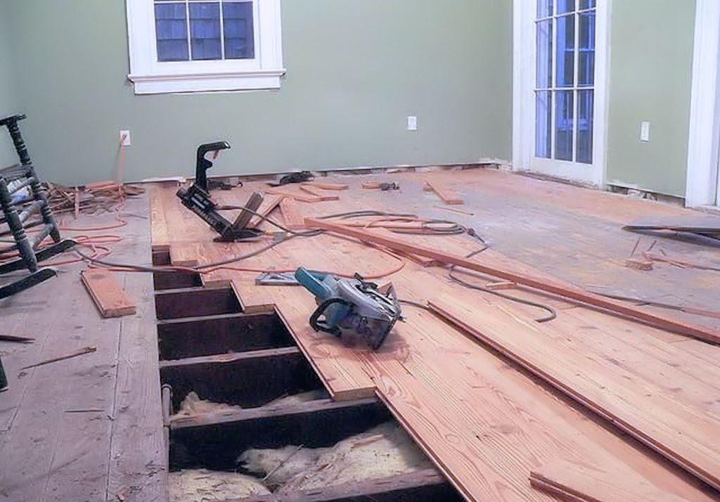 поменять деревянный пол