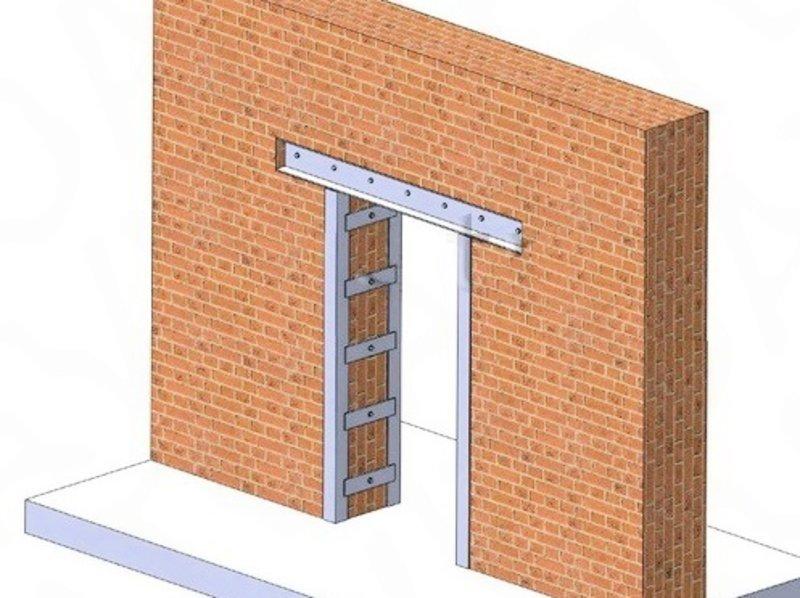 устройство дверных проемов в кирпичной стене